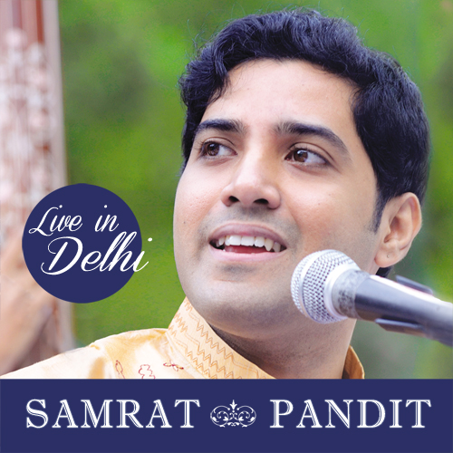 cover of the CD Live in Delhi by Samrat Pandit - label Bihaan Music