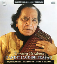 Cover of Pandit Jagdish Prasad CD Dawning Dewdrops
